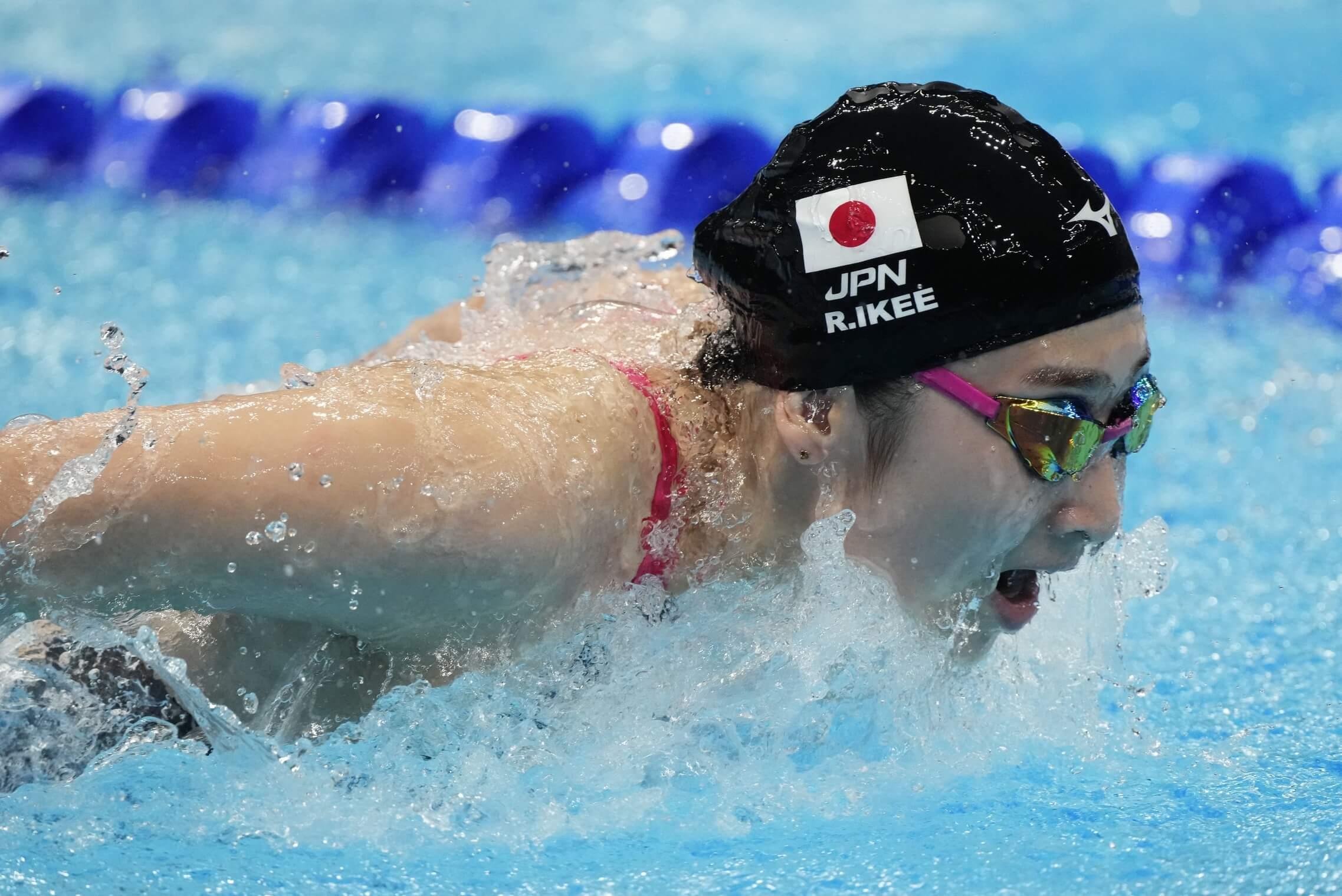 Jul 30, 2021; Tokyo, Japan; Rikako Ikee (JPN) in the women's 4x100m medley heats during the Tokyo 2020 Olympic Summer Games at Tokyo Aquatics Centre. Mandatory Credit: Rob Schumacher-USA TODAY Sports