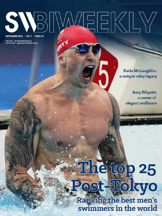 SW Biweekly 9-7-21 - The Top 25 Post-Tokyo - Ranking The Best Men's Swimmers In The World - COVER