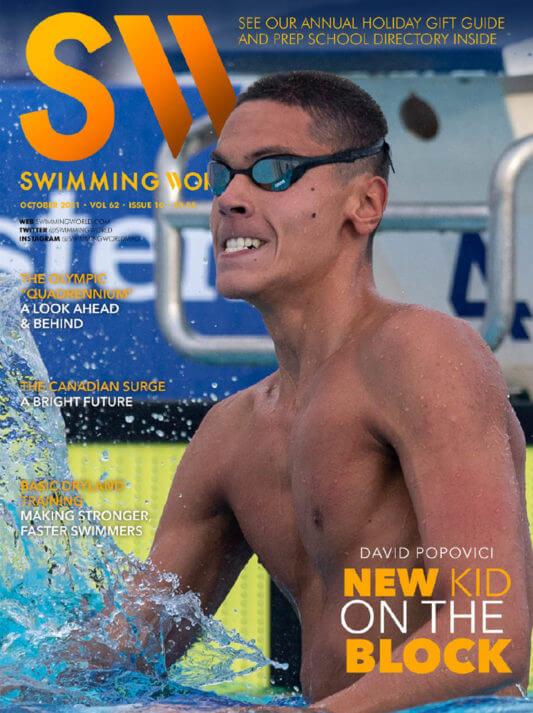 Swimming World October 2021 - David Popovici - New Kid On The Block - COVER
