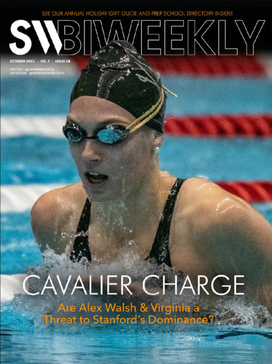 SW Biweekly 10-7-21 - Cavalier Charge - Are Alex Walsh and Virginia A Threat to Stanford's Dominance - COVER