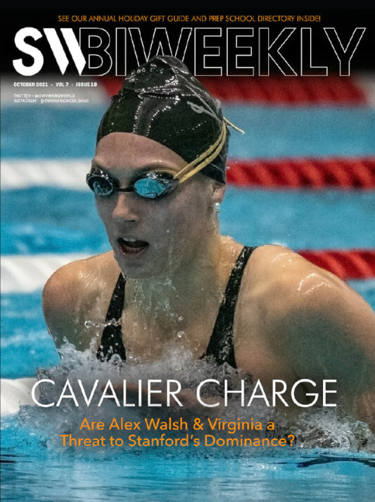 SW Biweekly - Cavalier Charge: Are Alex Walsh & Virginia a Threat to Stanford's Dominance? - Cover