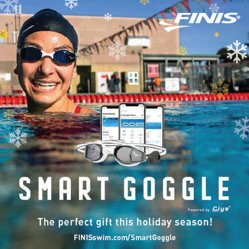 Swimming World October 2021 - 2021 Holiday Gift Guide - FINIS SmartGoggle